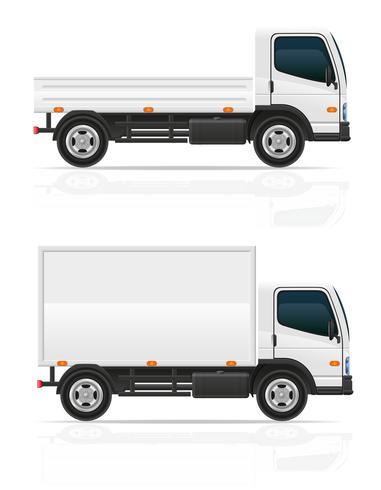 camión pequeño para la ilustración de vector de transporte de carga