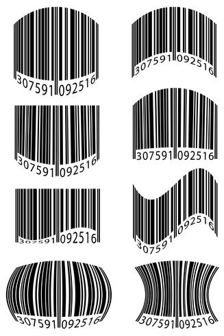 abstract barcode vector illustration