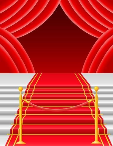 alfombra roja con la ilustración vectorial torniquete vector