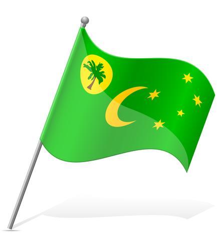 bandiera delle Isole Cocos illustrazione vettoriale