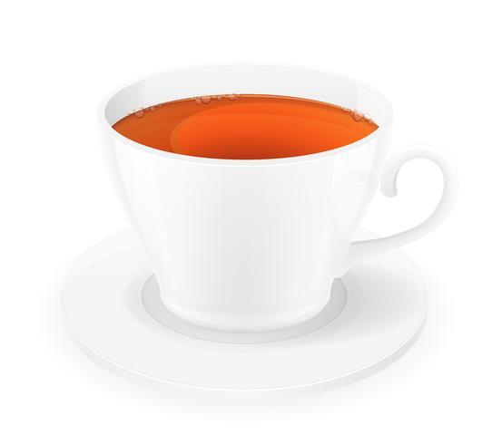 porcelain cup of tea vector illustration