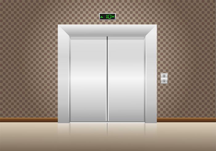 portes d'ascenseur fermées vecteur