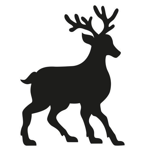 silueta de una ilustración vectorial de ciervos