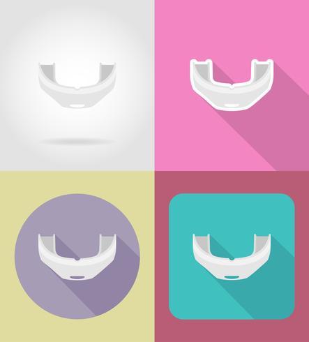 icone piane di berretto da boxe illustrazione vettoriale