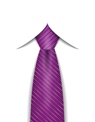 stropdas voor mannen een pak vectorillustratie