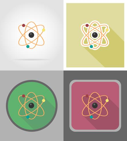 molecule flat icons vector illustration