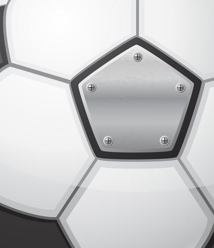 voetbal voetbal bal achtergrond vectorillustratie