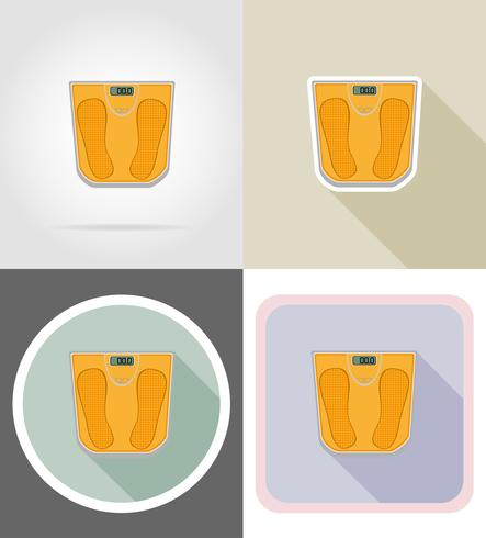 floor scale flat icons vector illustration