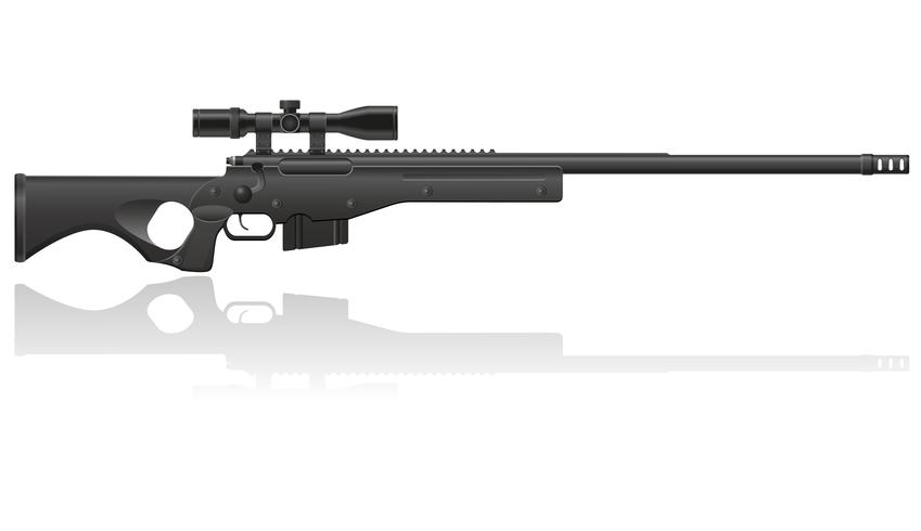 sniper rifle vector illustratie