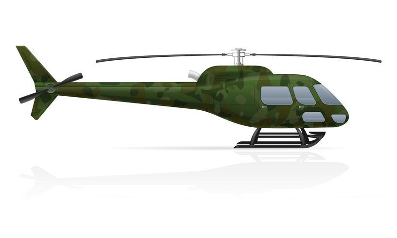 illustration vectorielle hélicoptère militaire