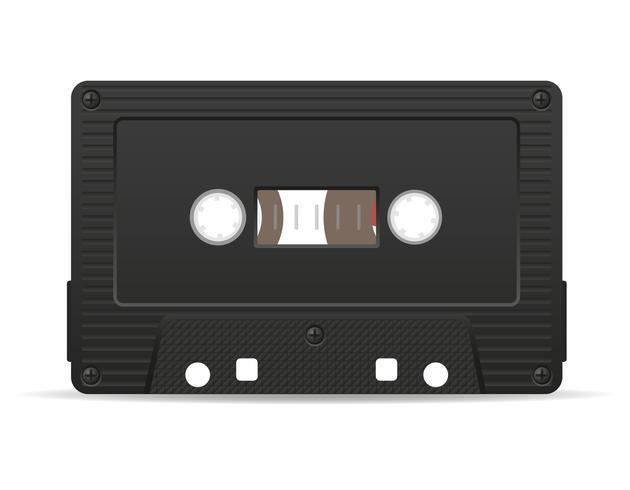 Ilustración de vector de cassette de audio