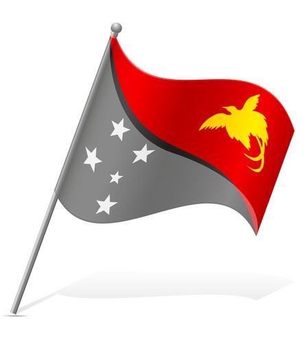 Bandera de papua nueva guinea vector illustration