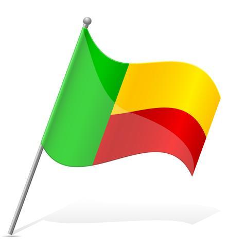 Bandera de Benin ilustración vectorial