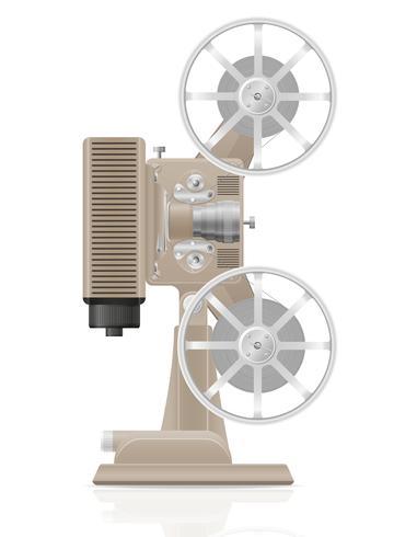 illustration vectorielle de vieux film vintage retro film projecteur vecteur