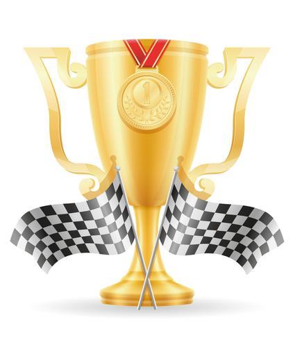 Copa de oro ganador de la ilustración de vector stock oro
