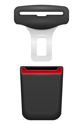 car seat belt for safety in case of accident vector illustration
