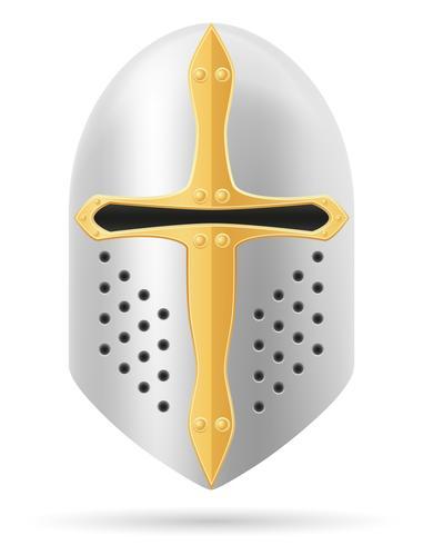 kamp hjälm medeltida lager vektor illustration