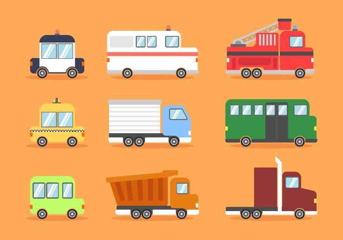 Land Transport Clipart Vektor festgelegt