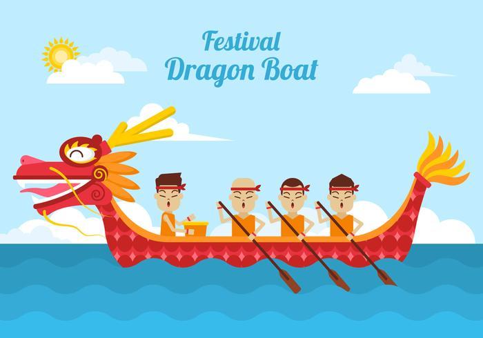 Ilustración del barco dragón
