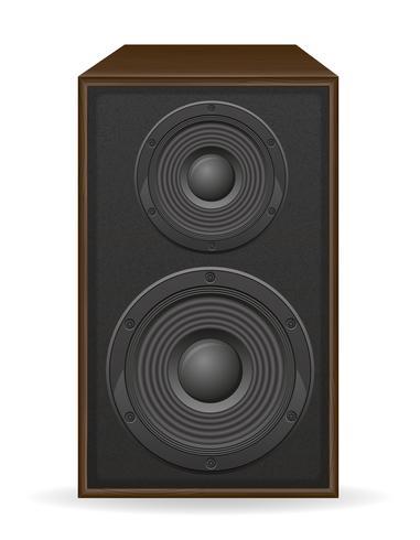 illustrazione vettoriale acustica loundspeaker