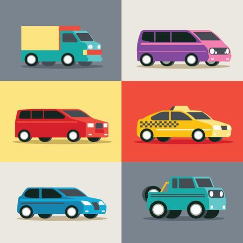 Stadtfahrzeug-Set