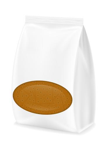 galletas en la ilustración vectorial de embalaje
