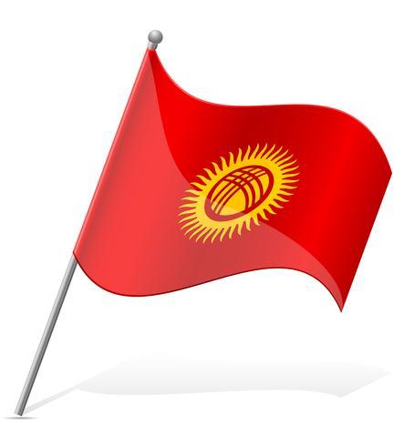 Flagge der Kirgisistan-Vektorillustration
