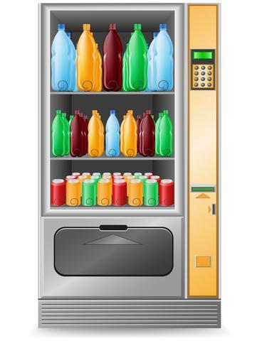 vending agua es una ilustración vectorial de la máquina