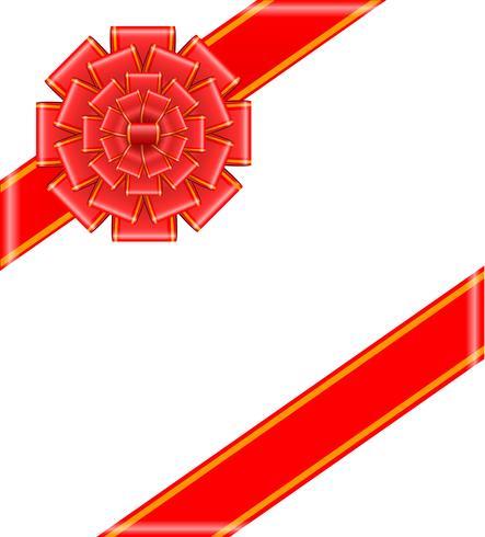 röd båge med band vektor illustration