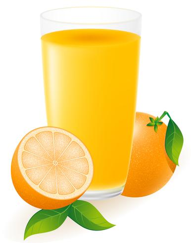 illustration vectorielle de jus d'orange