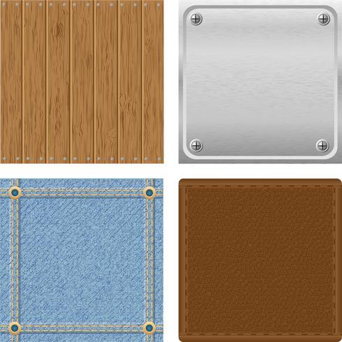 set texture houten metalen jeans leer voor ontwerp