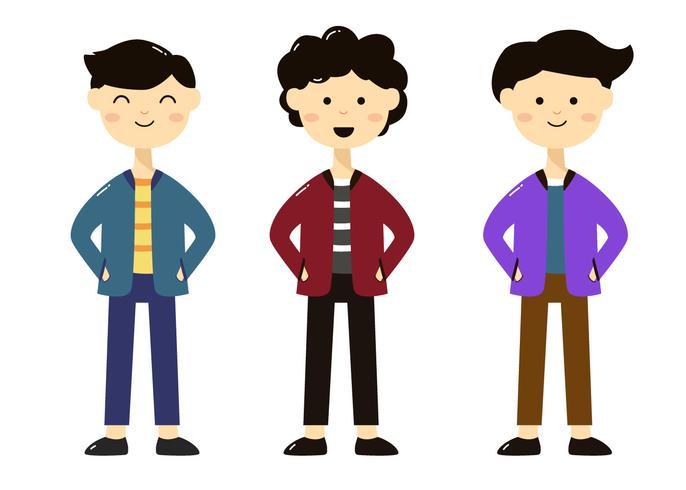 Personajes de niños de diferentes estilos
