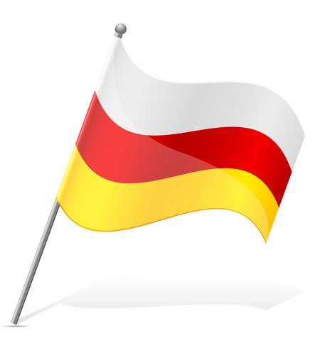 Bandera de Osetia del Sur ilustración vectorial