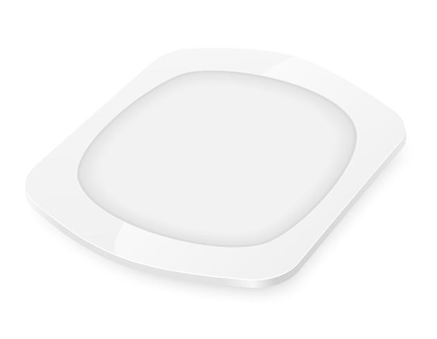 Ilustración de vector de placa de porcelana