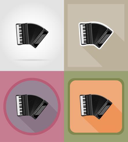 icone piane di fisarmonica illustrazione vettoriale