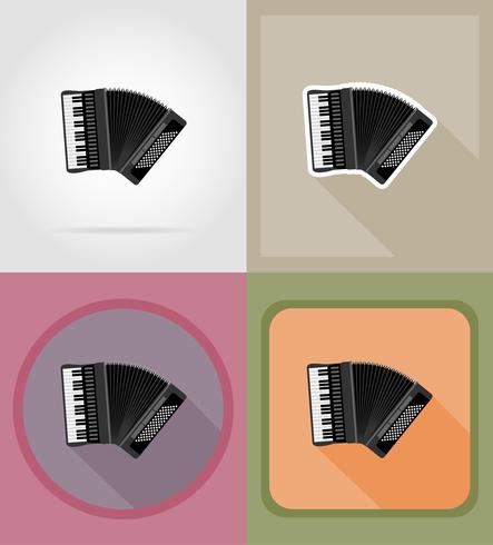 accordion flat icons vector illustration