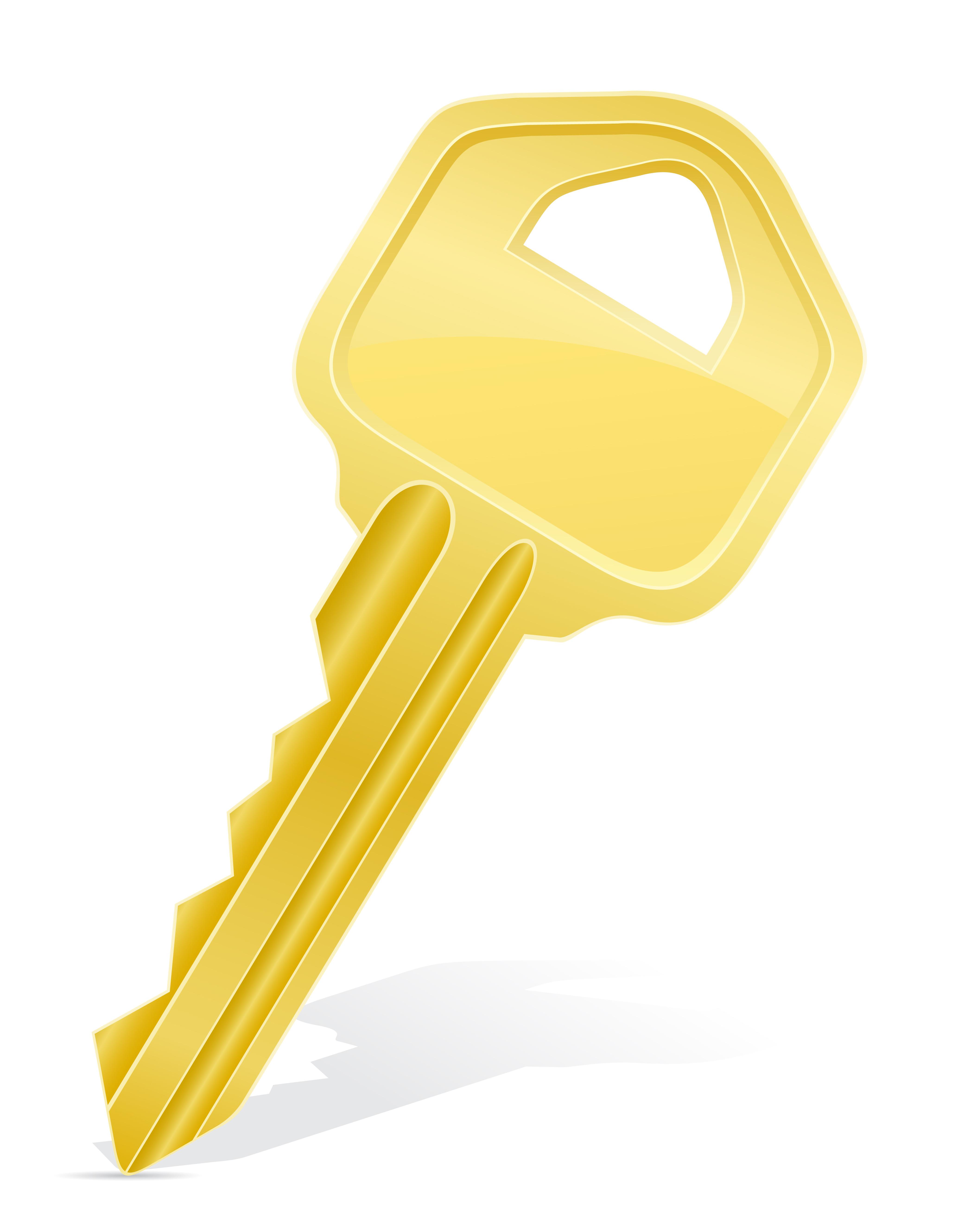 Vector Key Illustration: Key Door Lock Vector Illustration