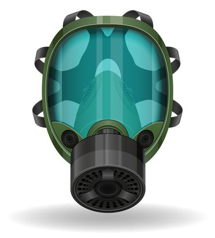 máscara de gas ilustración vectorial vector