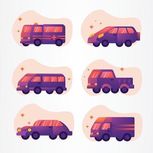 Transporte Clipart Vector Pack