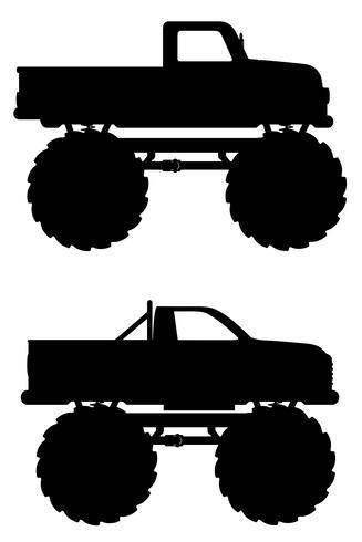 Ilustración de vector de recogida monster truck coche