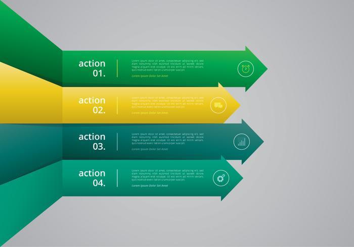 Infografía de objetivos corporativos