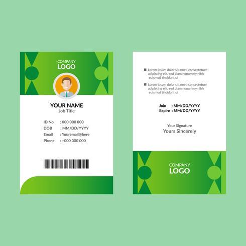 Groene identiteitskaart