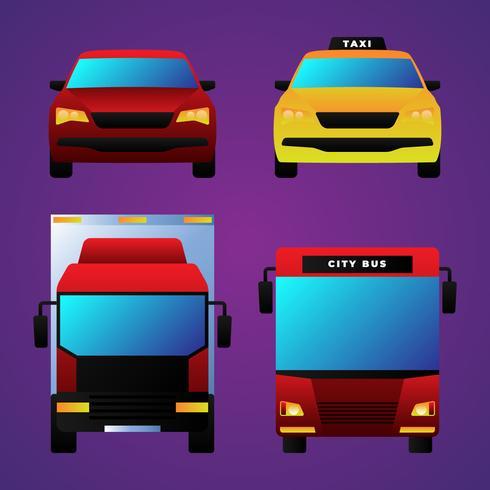 Transportfahrzeug-Vorderansicht
