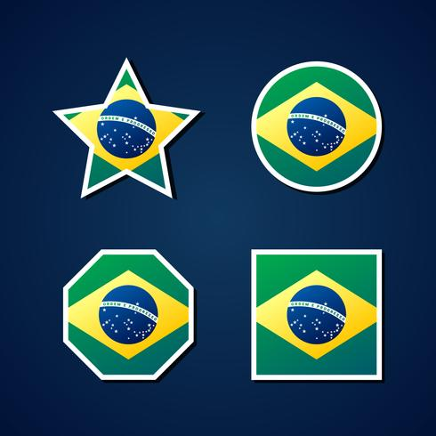 Brasilien Flagge Icons Theme Element Set