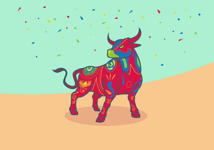 Ilustración de Bumba Meu Boi Bulls Vector