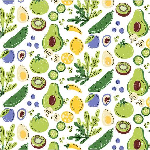 Gezonde voeding naadloze patroon
