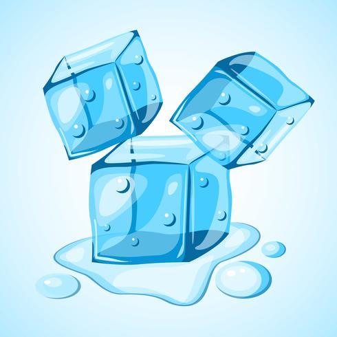 Vector de imágenes prediseñadas de cubo de hielo