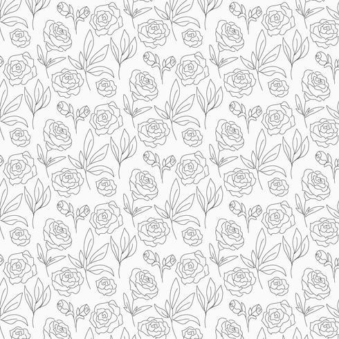 vektor disposition blommig sömlös mönster