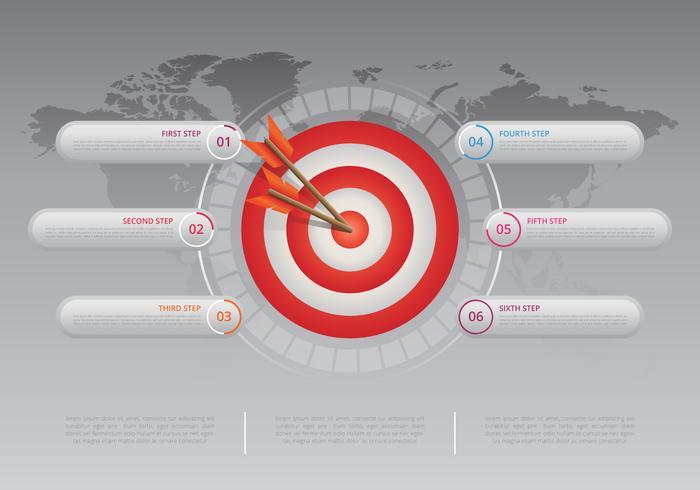 Cooperar objetivos infografía. Equipo de trabajo de infografía.