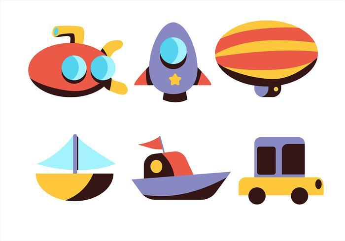 Conjunto de imágenes prediseñadas de transporte